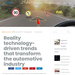 Reality technology-driven trends that transform the automotive industry