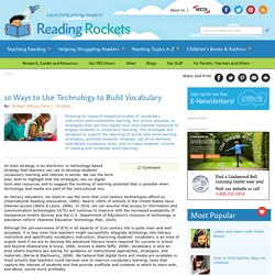 10 Ways to Use Technology to Build Vocabulary