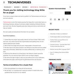 Write for Us + Technology Blog + Business blog, Marketing & Reviews Blog