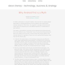 Why Android First is a Myth