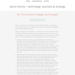 On The Future of Apple and Google