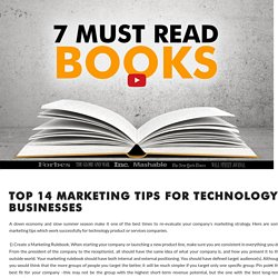 Top 14 Marketing Tips for Technology Businesses by Christine Slocumb