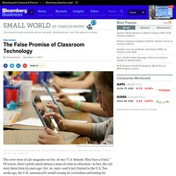 The False Promise of Classroom Technology - Businessweek