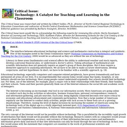 Technology: A Catalyst for Teaching and Learning in the Classroom
