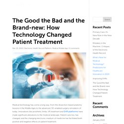 The Good the Bad and the Brand-new: How Technology Changed Patient Treatment