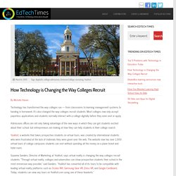 How Technology is Changing the Way Colleges Recruit