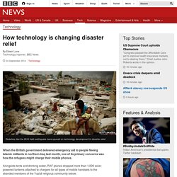 How technology is changing disaster relief