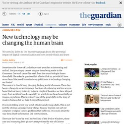 Jackie Ashley: New technology may be changing the human brain