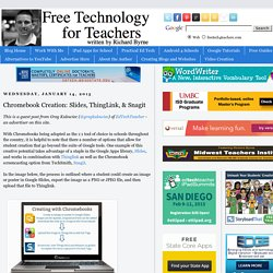 Chromebook Creation: Slides, ThingLink, & Snagit
