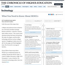What You Need to Know About MOOC's - Technology