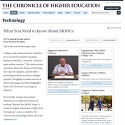 What You Need to Know About MOOCs - Technology