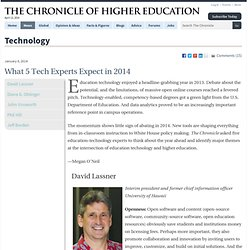 What 5 Tech Experts Expect in 2014 - Technology