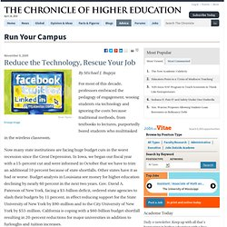 Reduce the Technology, Rescue Your Job - Run Your Campus - The C