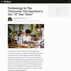 "*Technology In The Classroom: The Question Is Not ""If"" But ""How"""