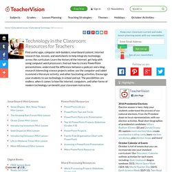 Technology in the Classroom: Resources for Teachers