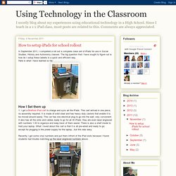 How to setup iPads for school rollout