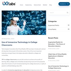 Use of Immersive Technology in College Classrooms