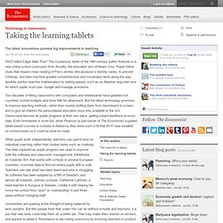 Technology in classrooms: Taking the learning tablets