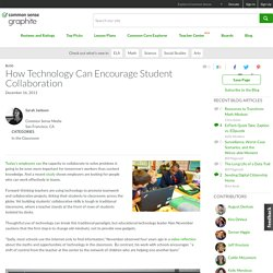 How Technology Can Encourage Student Collaboration