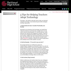 5 Tips for Helping Teachers Adopt Technology | The VHS Collaborative