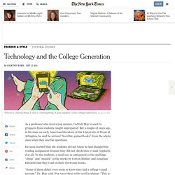 Technology and the College Generation