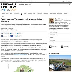 Could Biomass Technology Help Commercialize Biochar?