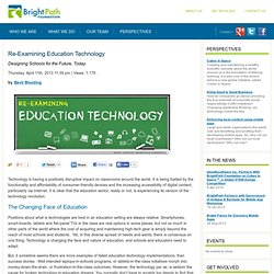 Re-Examining Education Technology - The BrightPath Foundation: Empowering Communities Through Technology