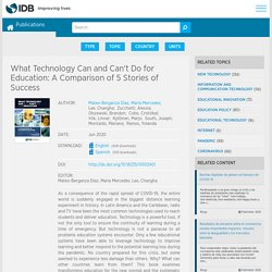 What Technology Can and Can't Do for Education: A Comparison of 5 Stories of Success