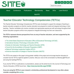 Teacher Educator Technology Competencies (TETCs) - SITE