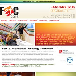 2016 Education Technology Conference — FETC Events