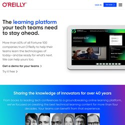 Technology Books, Tech Conferences, IT Courses, News - O'Reilly