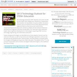 2013 Technology Outlook for STEM+ Education - The New Media Consortium
