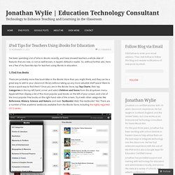iPad Tips for Teachers Using iBooks for Education