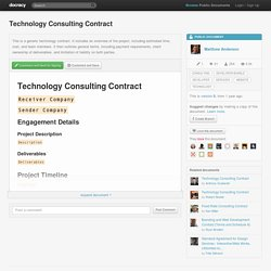 Technology Consulting Contract