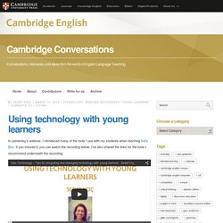 Using technology with young learners