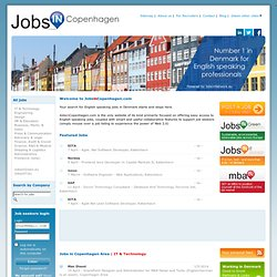 IT & Technology | Jobs in Copenhagen - Denmark