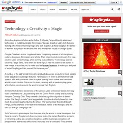 Technology + Creativity = Magic