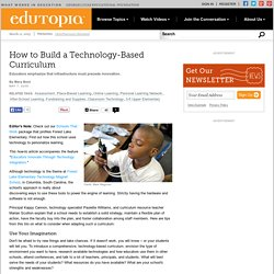 How to Build a Technology-Based Curriculum