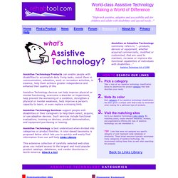 RehabTool.com - Assistive Technology Definition and Categories