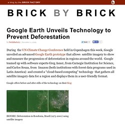 Google Earth Unveils Technology to Prevent Deforestation - Flock