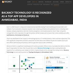 Bacacy Technology - A Top App Developers Company in Ahmedabad