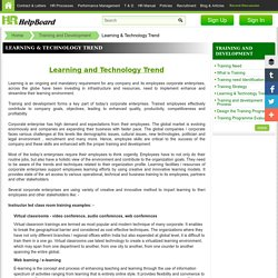 Technology uses in Training and Leaning Development Program
