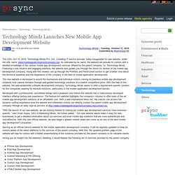 Technology Mindz Launches New Mobile App Development Website