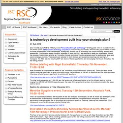 Is technology development built into your strategic plan?
