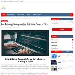 Best Technology Development Your Skill Online Courses In 2019