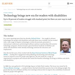 Technology brings new era for readers with disabilities