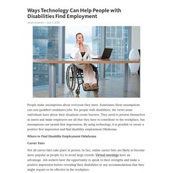 Ways Technology Can Help People with Disabilities Find Employment