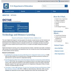 Technology and Distance Learning