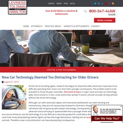 New Car Technology Distracting for Older Drivers