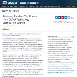 Samsung Receives Top Honors from Global Technology Distribution Council